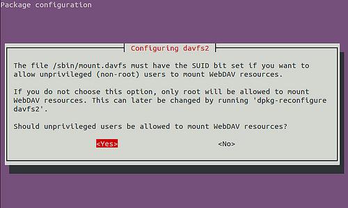 davfs2-dpkg-reconfigure