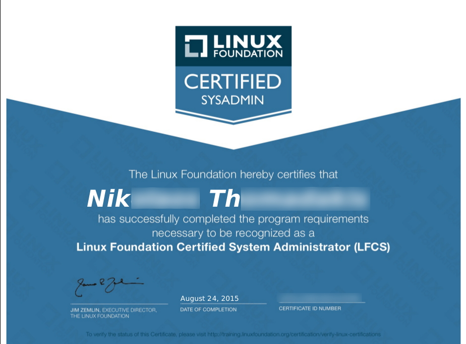 Certificate-LFCS