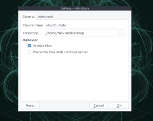nitroshare-general-settings