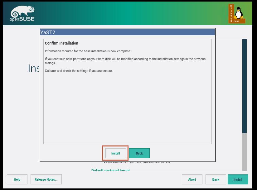 Πατώντας το κουμπί Install στη προηγούμενη οθόνη, εμφανίζεται αυτή η οθόνη επιβεβαίωσης. Πατώντας το κουμπί Install θα ξεκινήσει η εγκατάσταση